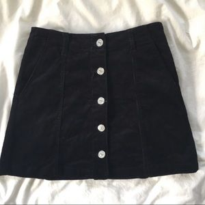 Forever 21 Button Up Corduroy Skirt